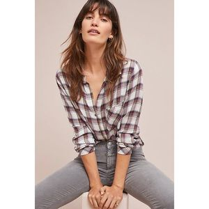 Anthropologie Cloth & Stone Shoshone Plaid Shirt S